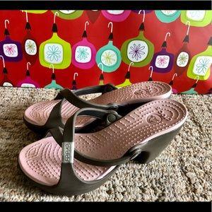 Nice Crocs heels size 6